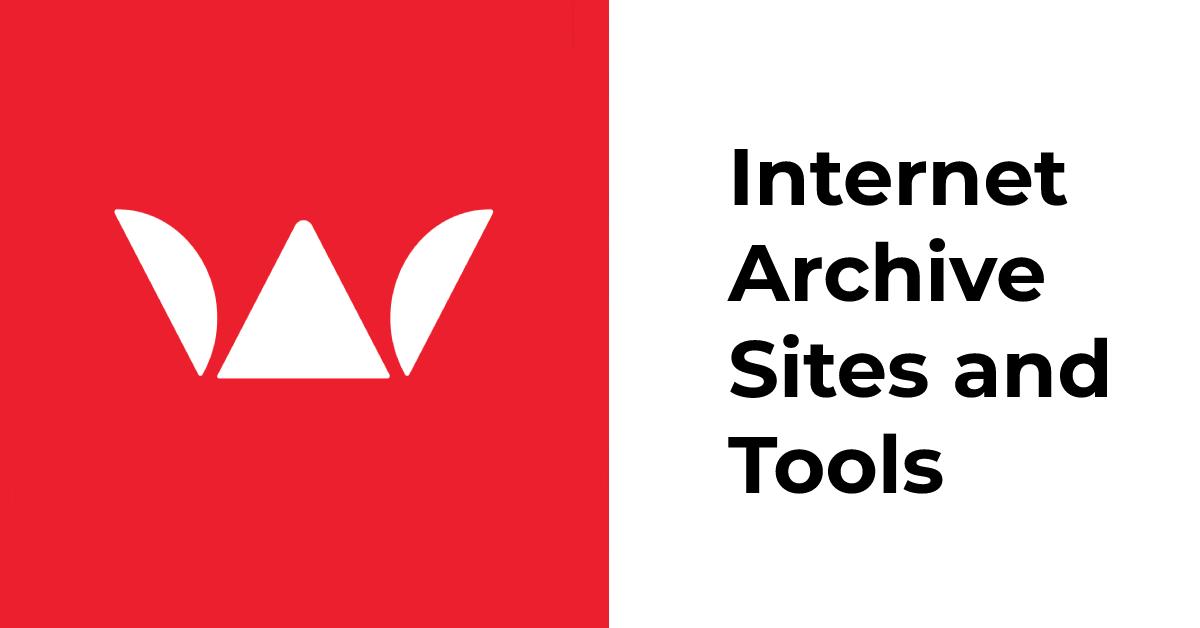 Internet archive sites